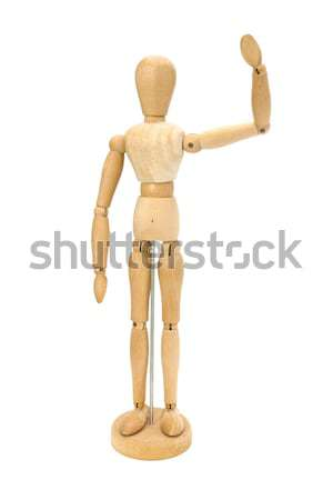 Waving wooden artists Mannequin Stock photo © lucielang