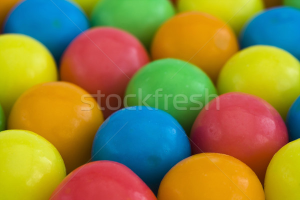 Multicolored gumballs background Stock photo © lucielang