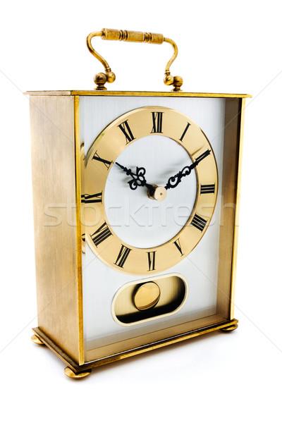 Arany fuvar óra fehér arc idő Stock fotó © lucielang