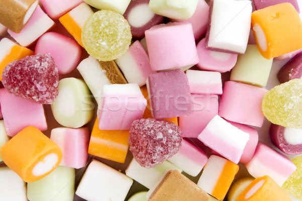 Background of dolly mixture sweets Stock photo © lucielang