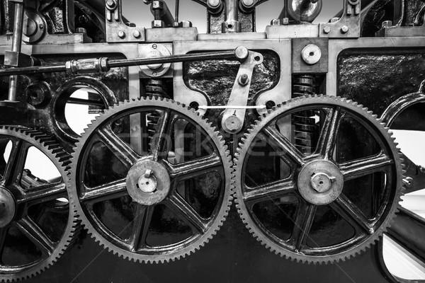 ストックフォト: 産業 · マシン · 黒白 · 作業 · 鋼