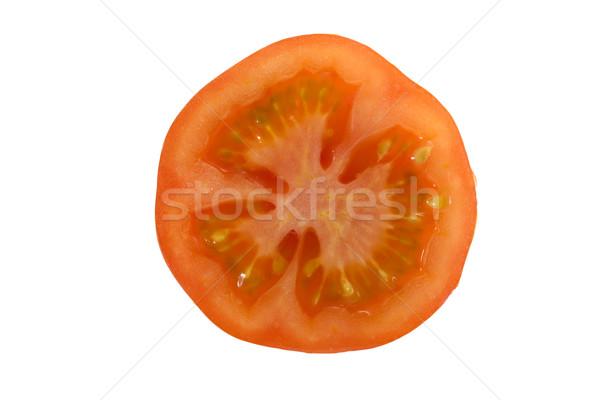 sliced tomatoe isolated on white Stock photo © lucielang