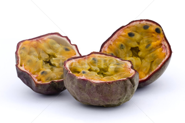 Three halves of passion fruits Stock photo © lucielang