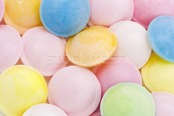 Flying блюдце конфеты бумаги продовольствие оранжевый Сток-фото © lucielang