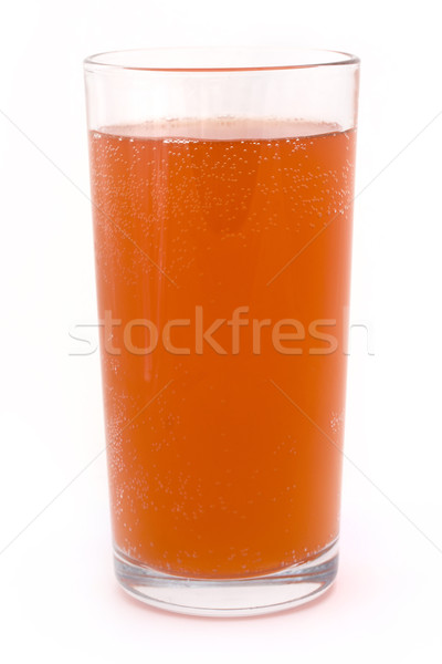 Glass of fizzy orange over white Stock photo © lucielang