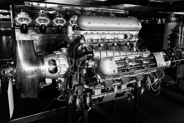 Antique aircraft engine in a museum Stock photo © lucielang