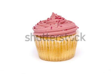 Pink cupcake over white Stock photo © lucielang