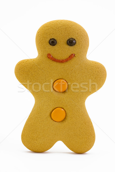Gingerbread man isolated on white Stock photo © lucielang
