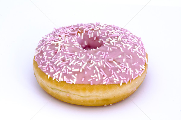 Pink doughnut isolated on white Stock photo © lucielang