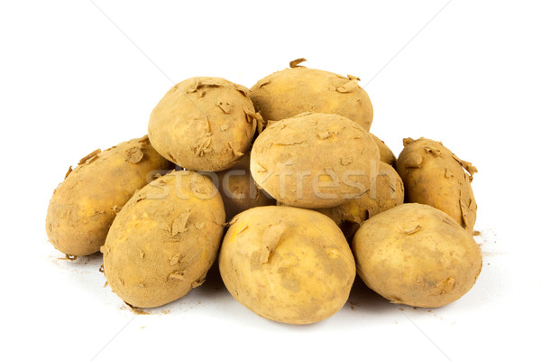A pile of dirty organic new potatoes Stock photo © lucielang