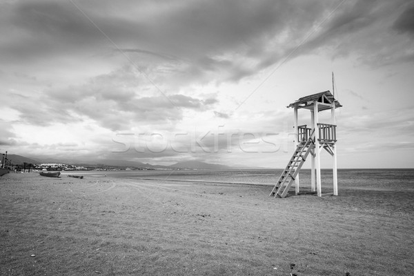 Life gaurd hut on a beach. Stock photo © lucielang