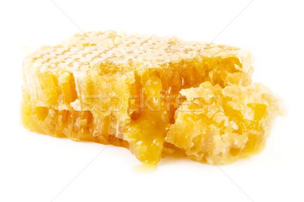Szelet természetes méhsejt fehér természet egészség Stock fotó © lucielang