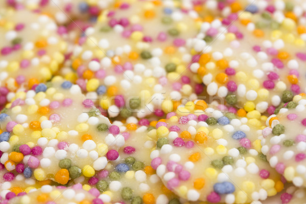 Witte chocolade knoppen voedsel snoep retro Stockfoto © lucielang
