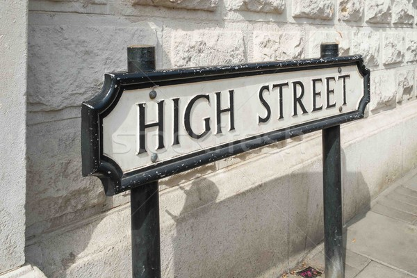 High Street road sign Stock photo © lucielang