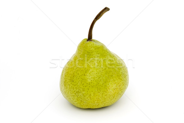 Single ripe pear isolated on white Stock photo © lucielang