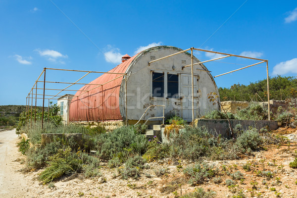 Red corrugated iron hut Stock photo © lucielang