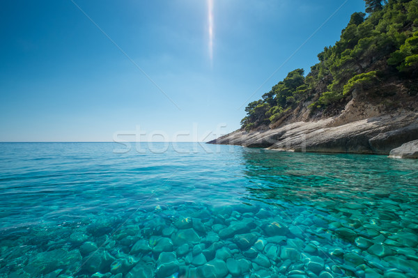Güzel mavi deniz gökyüzü güzellik Stok fotoğraf © lucielang