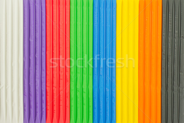 Background of brightly coloured modelling clay Stock photo © lucielang