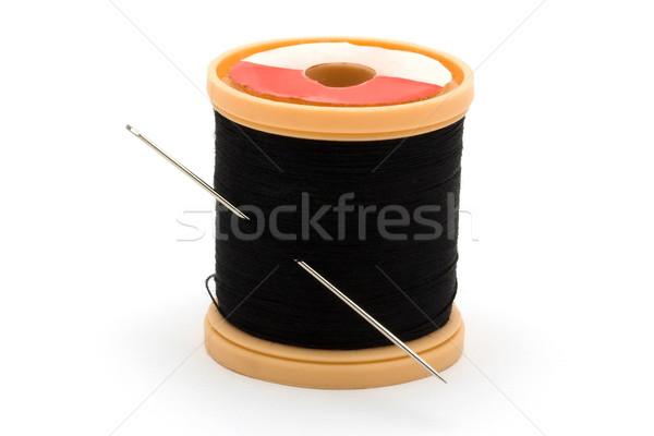 черный хлопка швейных иглы белый Сток-фото © lucielang