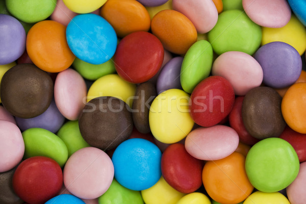 Colorful candy coated chocolate sweets Stock photo © lucielang