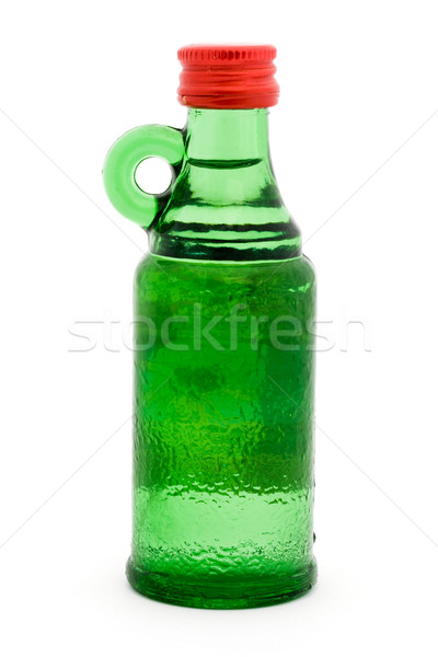 Green bottle with handle over white Stock photo © lucielang