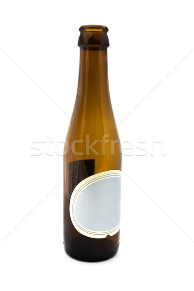 Empty brown bottle with a blank lable Stock photo © lucielang