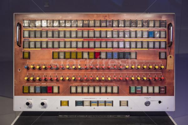 Vecchio stile switch bordo telefono industriali elettronica Foto d'archivio © lucielang