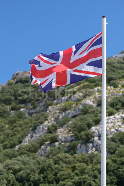 британский флаг флаг ветер знак синий Сток-фото © lucielang