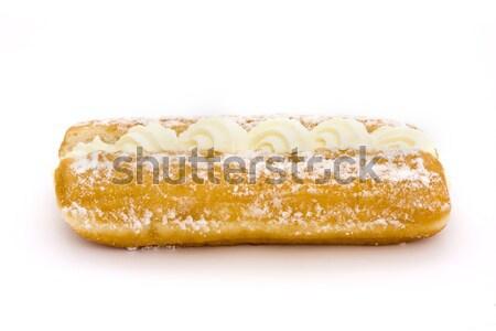 Cream cake over white Stock photo © lucielang