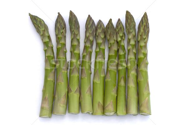 Ligne asperges alimentaire fond vert Cook Photo stock © lucielang