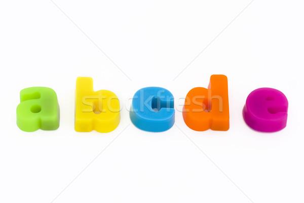 Colorido magnético cartas linha escolas criança Foto stock © lucielang