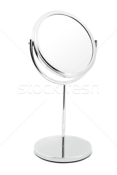 Gümüş makyaj ayna beyaz cam Metal Stok fotoğraf © lucielang