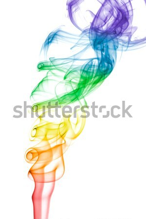 Roxo verde fumar efeito abstrato branco Foto stock © lucielang
