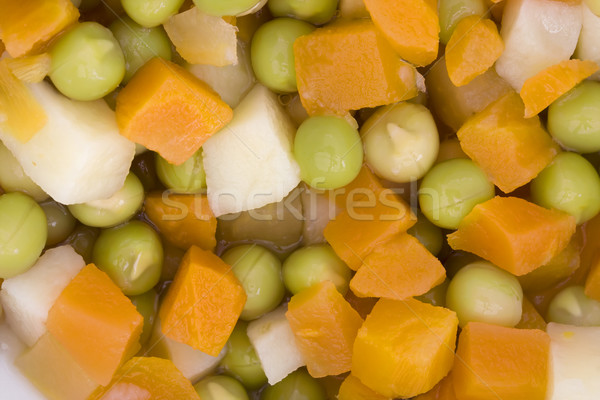 Background of diced mixed vegetables Stock photo © lucielang