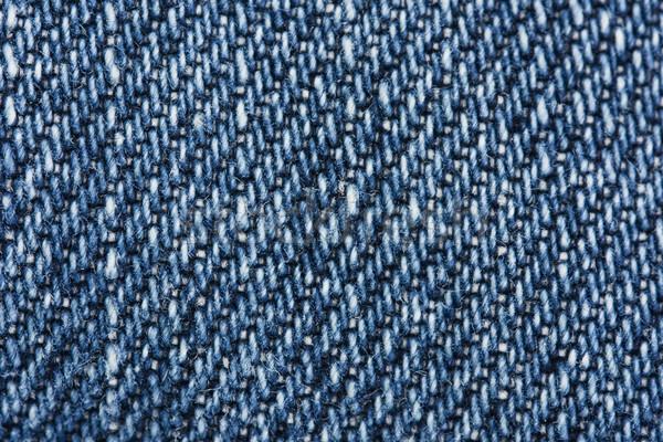 Macro blu denim texture moda abstract Foto d'archivio © lucielang