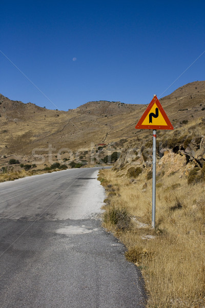Road sign on a deserted road Stock photo © lucielang