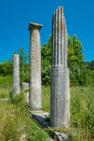 Oude Grieks ruines plaats architectuur Europa Stockfoto © lucielang