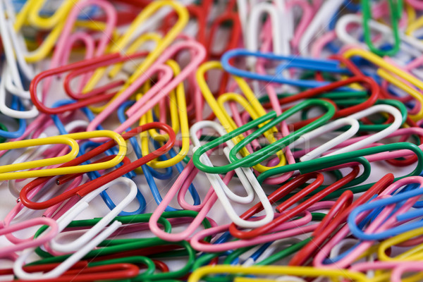 Multicolored paperclips background Stock photo © lucielang