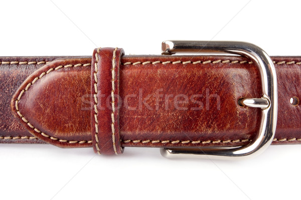 Mens brown leather belt Stock photo © lucielang