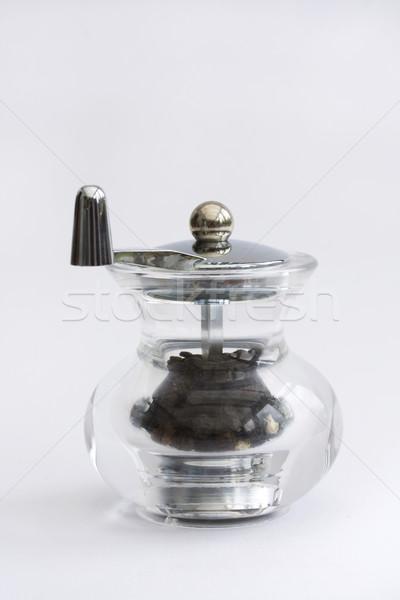 ガラス 唐辛子 グラインダー 白 キッチン レトロな ストックフォト © lucielang