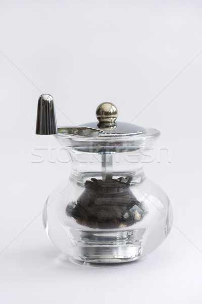 Vidro pimenta branco cozinha retro Foto stock © lucielang