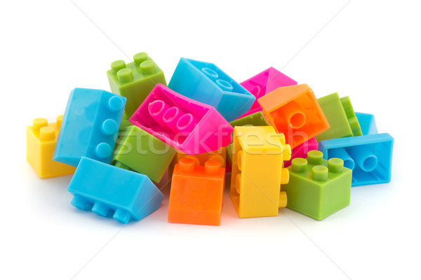 Small pile of colorful childrens building bricks Stock photo © lucielang