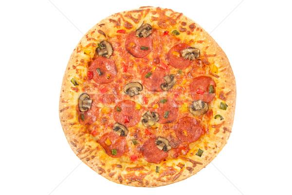 全体 ペパロニ ピザ 先頭 表示 白 ストックフォト © lucielang