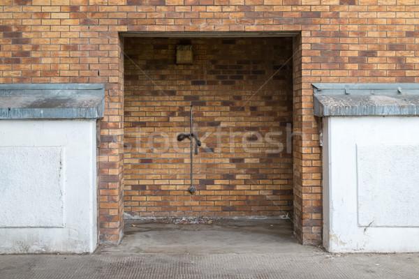 Lege deuropening textuur muur baksteen vintage Stockfoto © lucielang