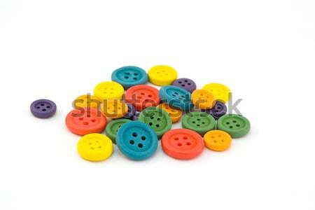 Pile of colorful buttons over white Stock photo © lucielang