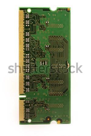 Stock fotó: Emlék · chip · izolált · fehér · arany · adat
