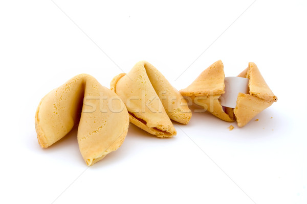 Three fortune cookies over white Stock photo © lucielang