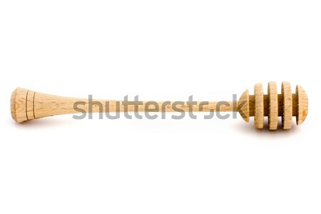 Wooden honey drizzler over white Stock photo © lucielang
