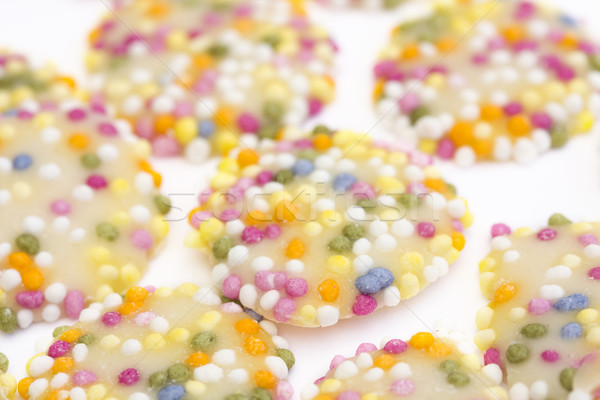 white chocolate buttons with sprinkles Stock photo © lucielang
