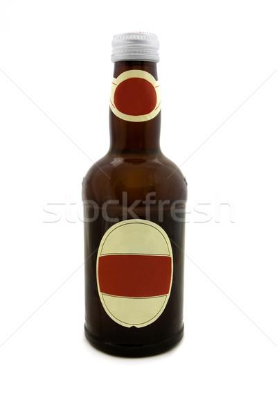 Barna sörösüveg fehér címke tiszta folyadék Stock fotó © lucielang